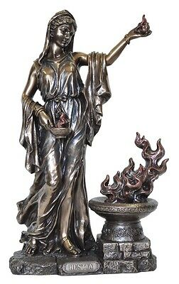 Veronese Bronze Figurine Greek Goddess Hestia Gift Home Decor Mythology