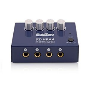 subzero sz hpa4 4 channel headphone amp 5055888815883 ebay. Black Bedroom Furniture Sets. Home Design Ideas