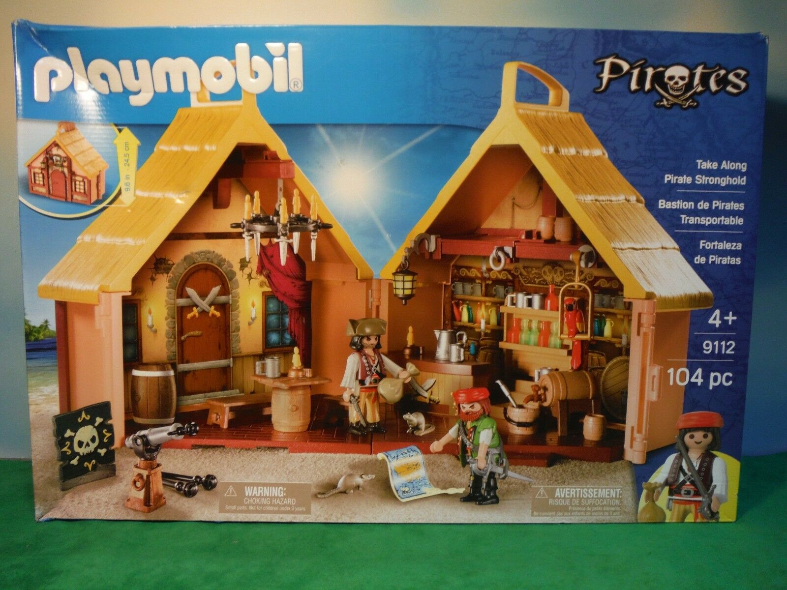 PLAYMOBIL TAKE ALONG PIRATE STRONGHOLD  9112 NEW