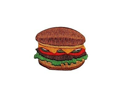 Grilled Cheeseburger Hamburger Burger Fastfood Food Meal Iron On Applique Patch