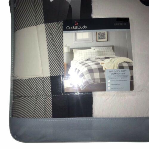 NWT Cuddl Duds Buffalo Check Soft Comforter F/Q