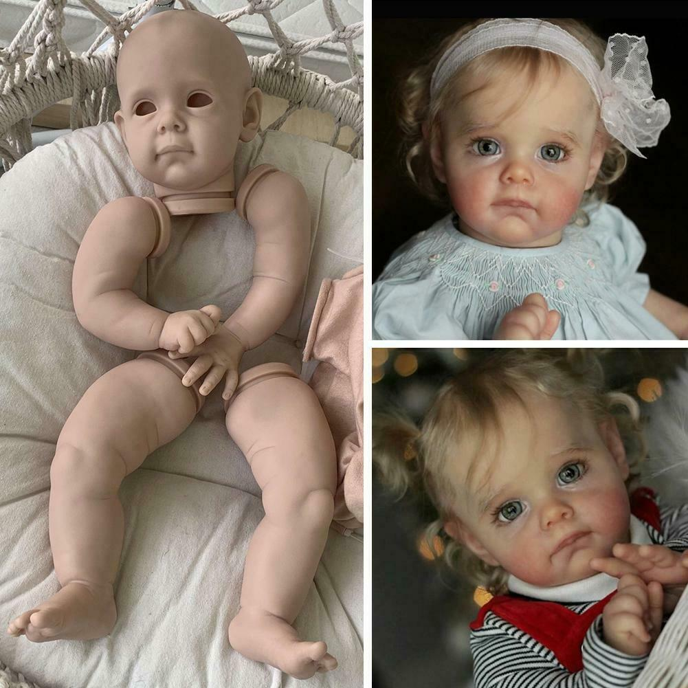 23 Inch Reborn Doll Kit Limited Edition Soft Fresh Color Unassembled Parts Sale