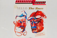 """YELLO -The Race- 7"""" 45 1988 mit Product Facts Promo-Flyer"""