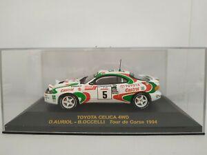 1-43-TOYOTA-CELICA-4WD-AURIOL-1994-CORSE-RALLY-RALLYE-IXO-ESCALA-SCALE-DIECAST