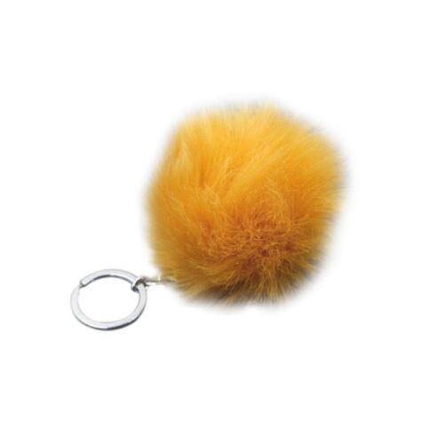 8 cm Fluffy Ball Pompon Schlüsselanhänger Pompom Künstliche Kaninchenfell-S B6C9