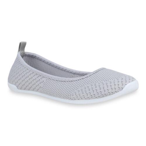 895940 Sportliche Damen Ballerinas Stoff Slipper Sneaker Flats Hot