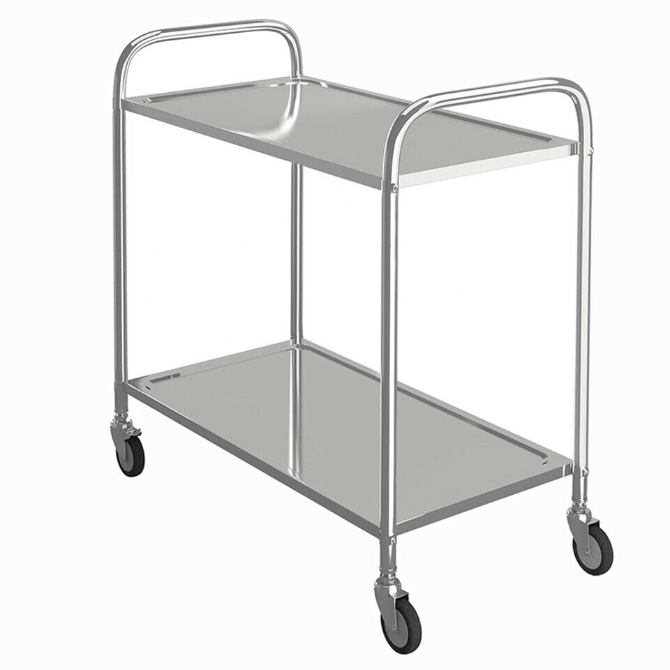 Commercial Stainless Steel Catering Trolley Kitchen Utility Serving Table Cart