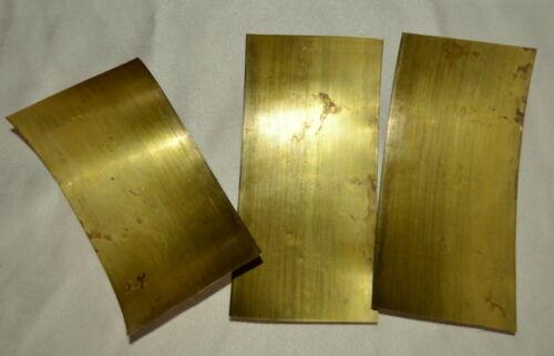"3 BRASS Sheet Metal Tooling Foil 3/""x6/""x.005 5mil 36 gauge Patina Craft Steampunk"
