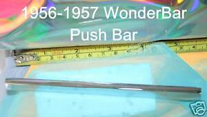 Corvette-1956-WonderBar-Radio-Push-Bar-Rechromed-Real-Fit-1957