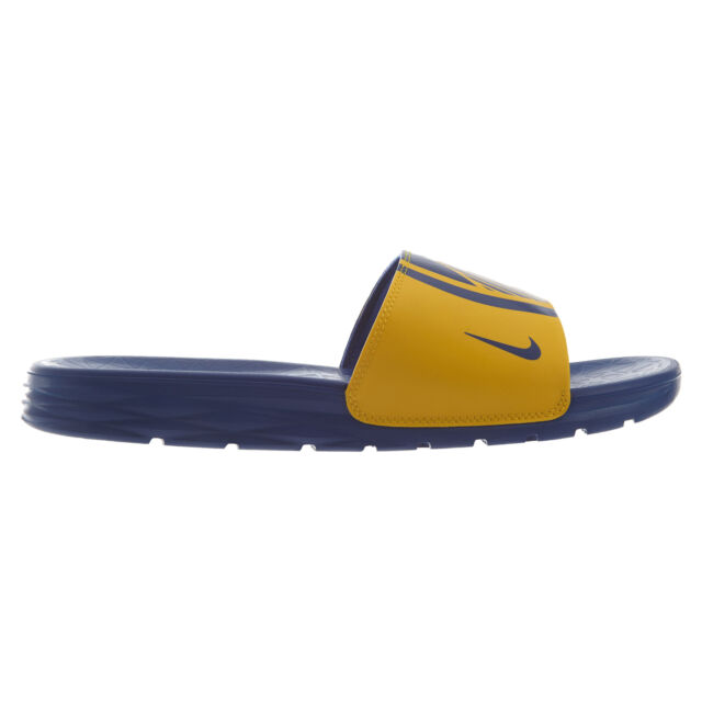 f9abfaffc803 Nike Benassi Solarsoft NBA Golden State Warriors Slides Size 11 for ...