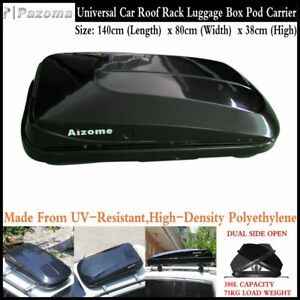 Dual-Side-Open-380L-75KG-Car-Roof-Rack-Luggage-Storage-Box-Pod-Cargo-Carrier