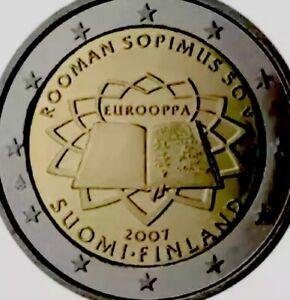 Finlande Pièce De 2 Euro 2007 Commémorative Traité De Rome Tor Neuf Unc De Rouleau Tdr Rom-afficher Le Titre D'origine Xfzzsogt-08003711-896125213