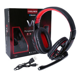 wireless bluetooth gaming headset headphone with mic for phone laptop pc ebay. Black Bedroom Furniture Sets. Home Design Ideas
