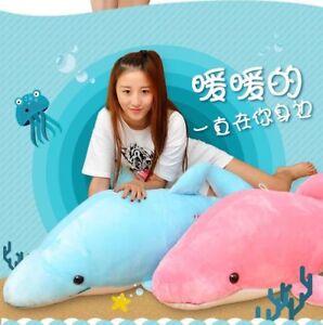 Pink-blue-Dolphin-Stuffed-Animal-Plush-Soft-Toy-Cute-Doll-Pillow-Cushion-Gift