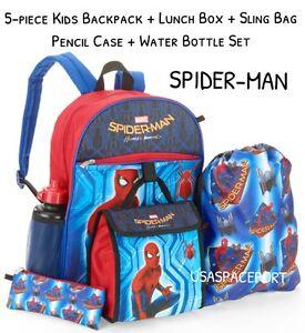 2017 SPIDER-MAN Movie BACKPACK+Lunch Kit+Sling Bag+Pencil Case SET ... e13499d4c43c6