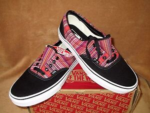 1743b1cbc1 Image is loading NEW-VANS-ERA-GUATE-WEAVE-SHOE-BLACK-MULTI-
