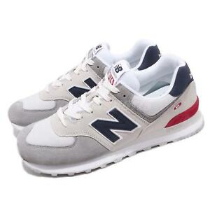 e4ec1398aa3f8 New Balance ML574UJD D Grey Blue Red White Men Running Shoes ...