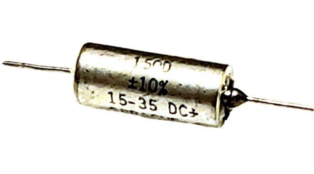 4pcs 15µF 20V Axial Tantalum Capacitor SPRAGUE 150D156X0020B2 15uF