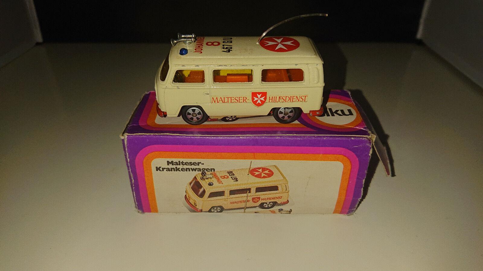 SIKU v356 vw t2 Maltais ambulance r9 neuf dans sa boîte