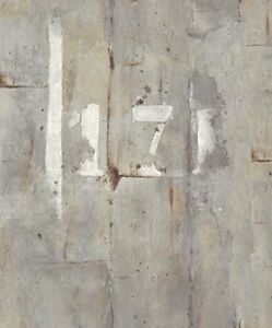 Wallpaper-Modern-Industrial-Faux-Gray-Concrete-Wall-with-White-Painted-Numerals