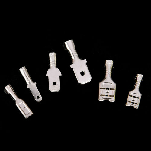 270X Spade Terminals Female Male Crimp Wire Connectors Insulated 2.8//4.8//6.3mmYJ
