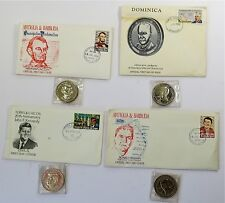 Lincoln Kennedy Roosevelt Reagan Official First Day Cover Commemorative Lot of 4