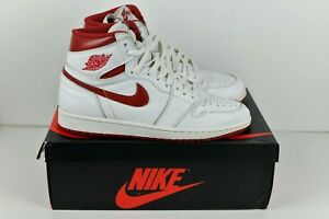 buy popular 91bd5 86a37 Details about Nike Air Jordan 1 Retro High OG Metallic Red Size 11 White  Red 555088-103 BRED