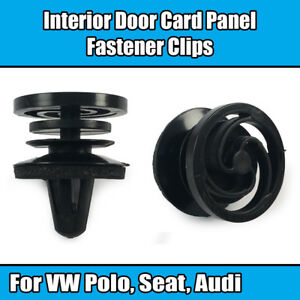 Seat 10X Interior Door Trim Panel Fastener Clips with Sealer for VW Audi
