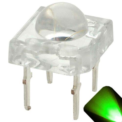 20 x LED 5mm Dome Superflux Pure Green Piranha LEDs Car Brake Lights Super Flux