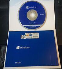 Microsoft WINDOWS 8.1 PROFESSIONAL 64 BIT DVD CON PRODUCT KEY CONFEZIONE SIGILLATA