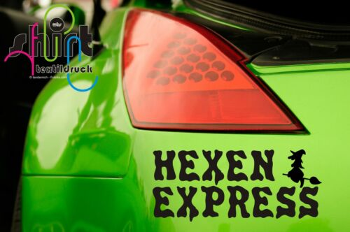 A 499-Witches Express WITCH Sticker Car Decal Sticker