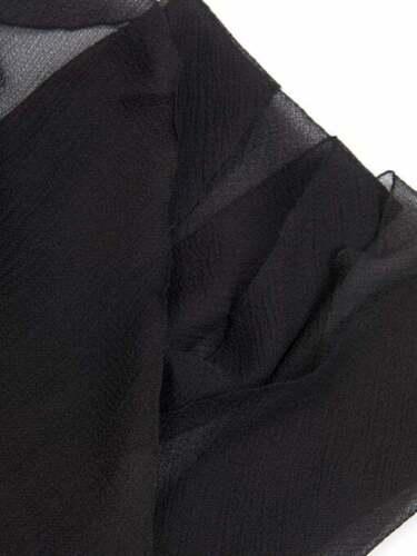 Black Chiffon Scarf Hijab Quality Elegant Sarong Shawl Wraps