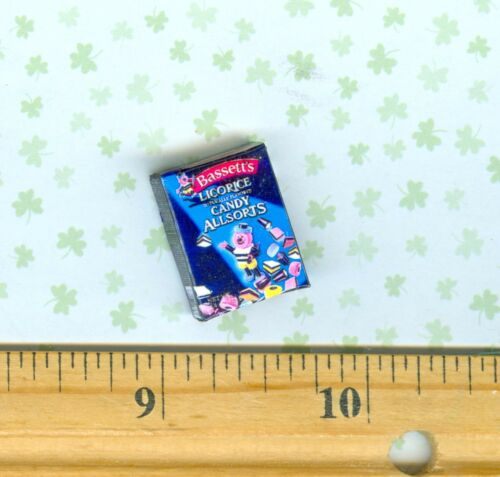 Dollhouse MINIATURE  Size All different kinds of Licorice Candy Box