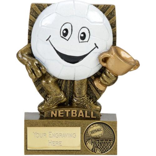 Netball comique Smile Ball trophy cup Player Award Gravure Gratuite A1872