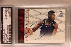 Ray-Allen-1996-97-Scoreboard-All-Rookie-Team-Red-Auto-Autograph-PSA-DNA-COA