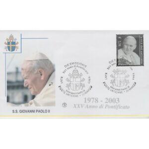 2003-FDC-Filagrano-Vatican-Stamp-IN-Silver-1-Envelope-MF74518