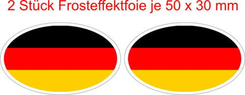2 x Deutschland Flaggen Frosteffekt  Sticker Auto Caravan Bike Helm Handy Laptop