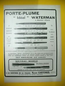 Publicite-de-Prensa-Waterman-Boligrafo-Pluma-Ideal-Sencilla-Perfecto-Durable-Ad