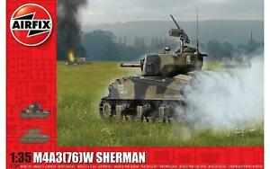 Airfix-A1365-M4A3-76-W-Battle-of-the-Bulge-1-35-Scale-Model-Kit-New
