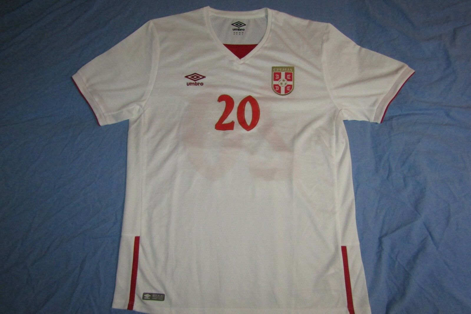 Serbia, Umbro, match preparosso jersey, XL, away