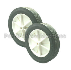 SET OF 2 WHEELS FOR NSS PACER 30 VACUUM CLEANER, NEW OEM # 05-9-926-1 OR 0599261