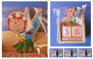 Calendario Boschi.Dettagli Su Calendario Perpetuo Fata Fatina Dei Fiori Boschi Flora Magia Dadi Cubi In Legno