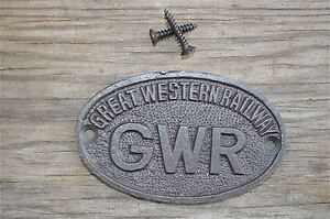 SMALL-OVAL-GREAT-WESTERN-RAILWAY-CAST-IRON-PLAQUE-GWR-METAL-DOOR-SIGN-CB1
