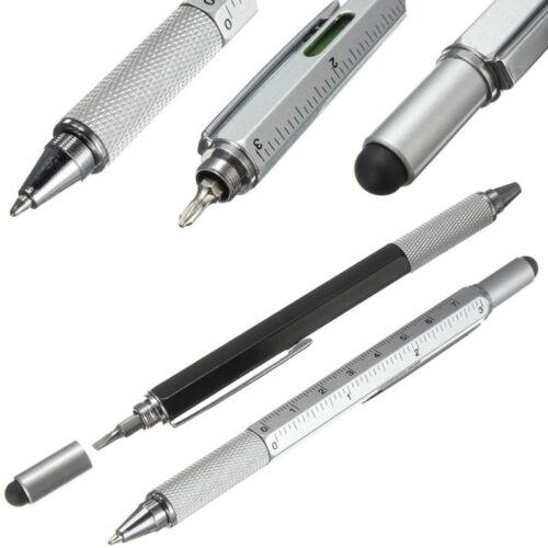 2X Screen Tool Stylus Pen With Spirit Level Multitool Ruler Screwdriver CA