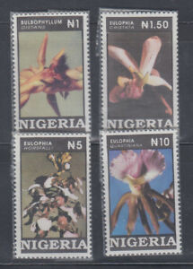 Nigeria-1993-Orchids-Sc-624-627-Complete-Mint-Never-Hinged