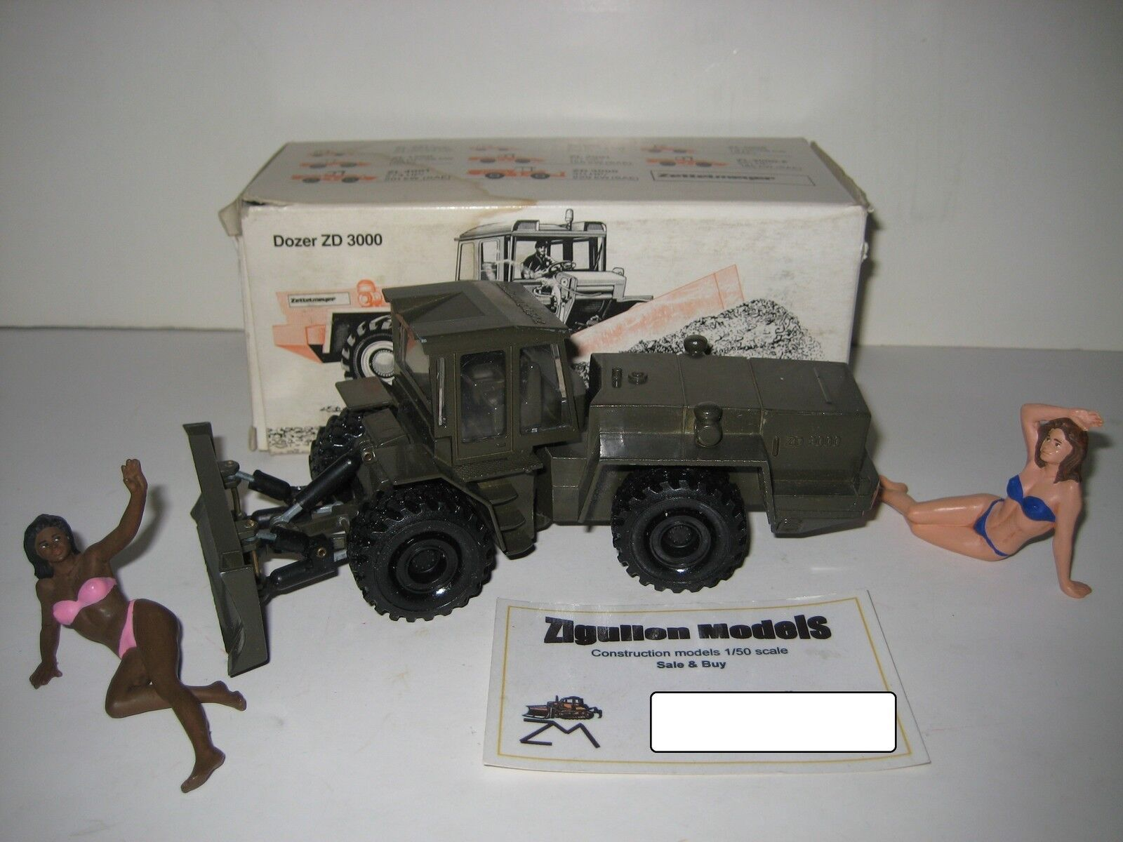 Zettelmeyer ZD 3000 raddozer Militaire Olive  197.3 NZG 1 50 neuf dans sa boîte