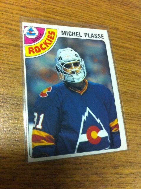 O-PEE-CHEE HOCKEY 1978 MICHEL PLASSE GOALIE CARD # 36 COLORADO ROCKIES