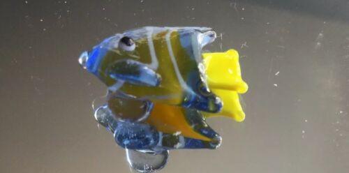 Ganz verre miniature figurine-Jaune Vert Angel Fish