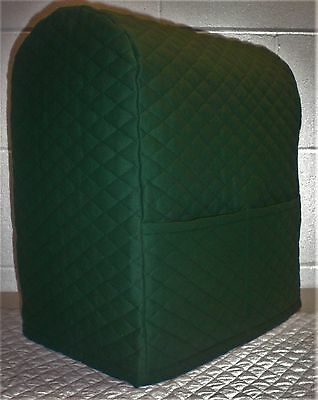 Hunter Green Quilted Kitchenaid 4.5,5,6qt Lift Bowl Stand Mixer Cover (FLAW)