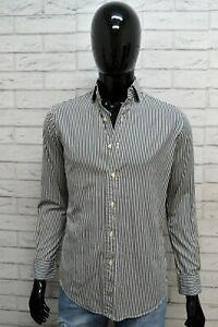 RALPH-LAUREN-Uomo-Camicia-a-Righe-Blu-Camicetta-Maglia-Taglia-XS-Shirt-Man